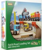 BRIO 33210 Rail & Road Loading Set